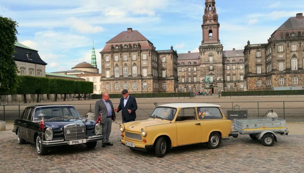 Historisk bilduel på Christiansborg